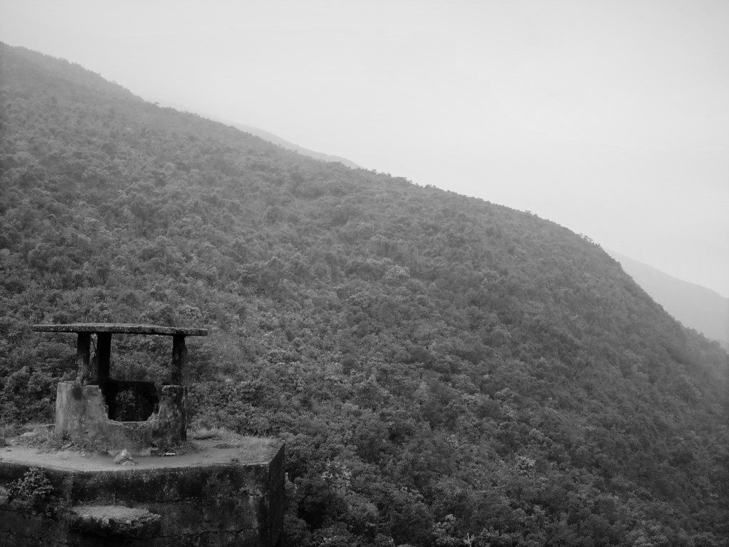 An old gun tower at the top of the Hai Van Pass, Vietnam