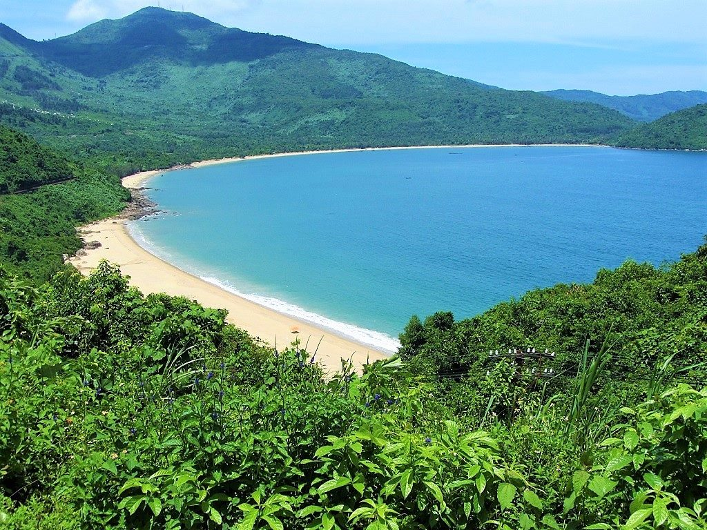 The Bay of Danang, from the Hai Van Pass, Vietnam
