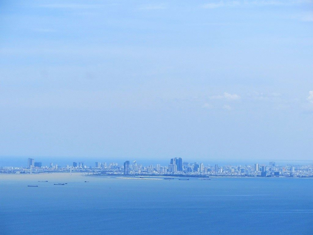 Danang City, seen from the Hai Van Pass, Vietnam