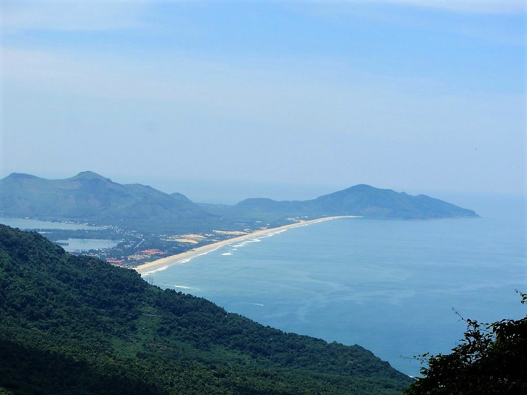 Lang Co Beach, seen from the Hai Van Pass, Vietnam