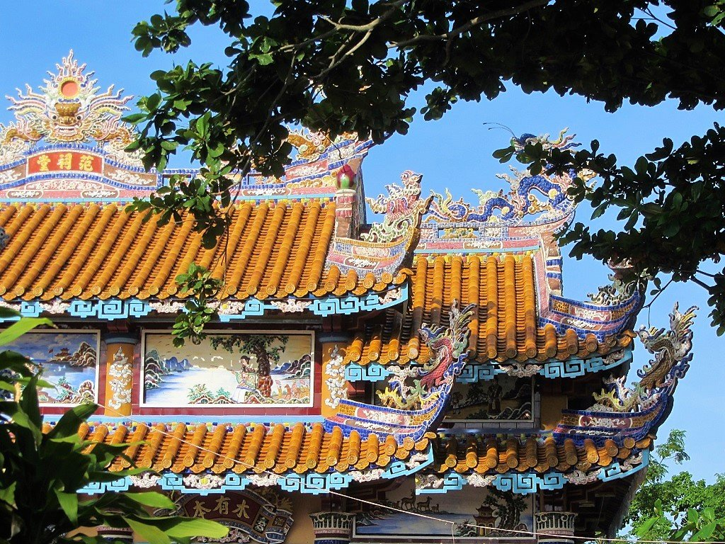 Decorative tombs in Hue, Central Vietnam