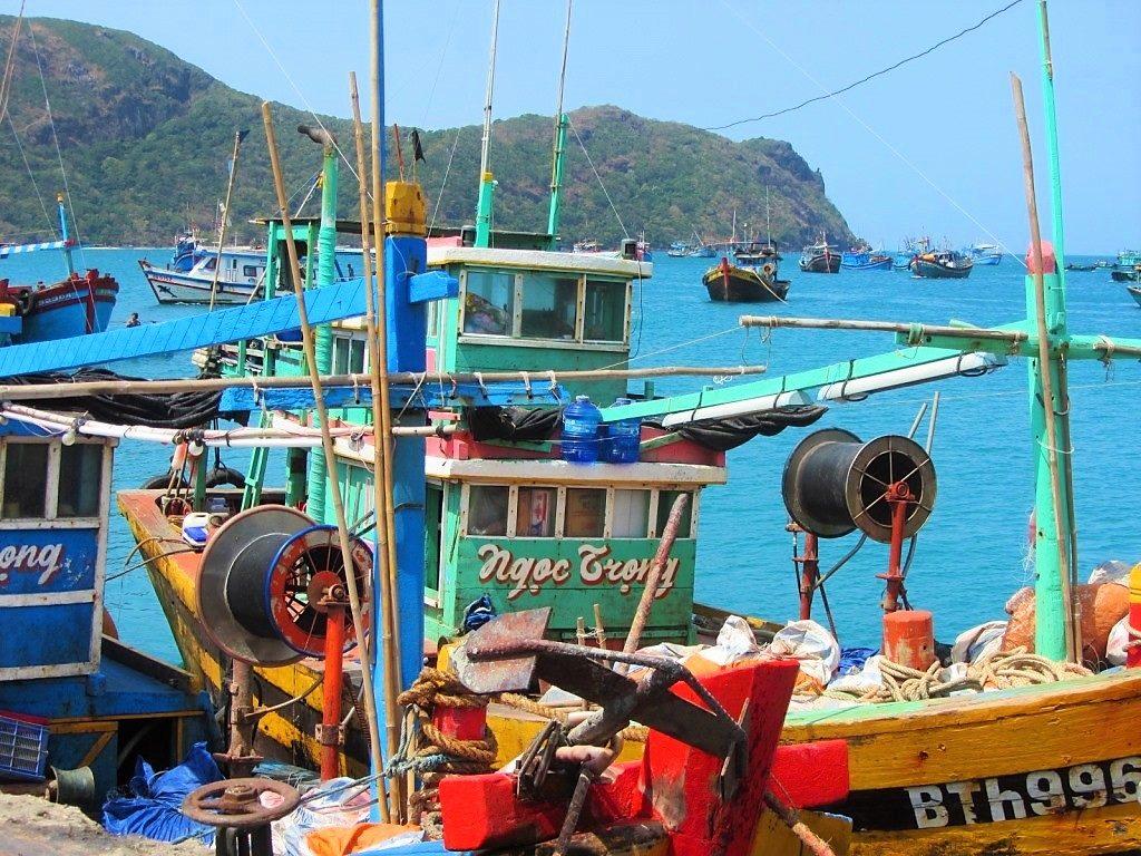 Fishing boats, Con Son Island, Con Dao, Vietnam