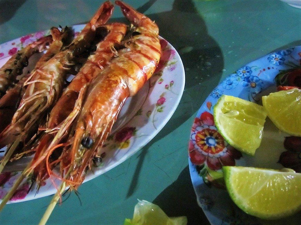 Grilled seafood, Con Son Island, Con Dao, Vietnam