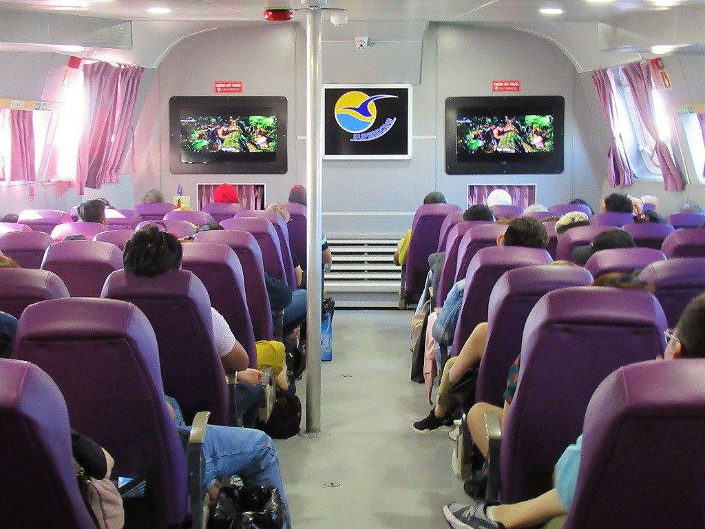 Interior of the Soc Trang to Con Dao ferry, Vietnam