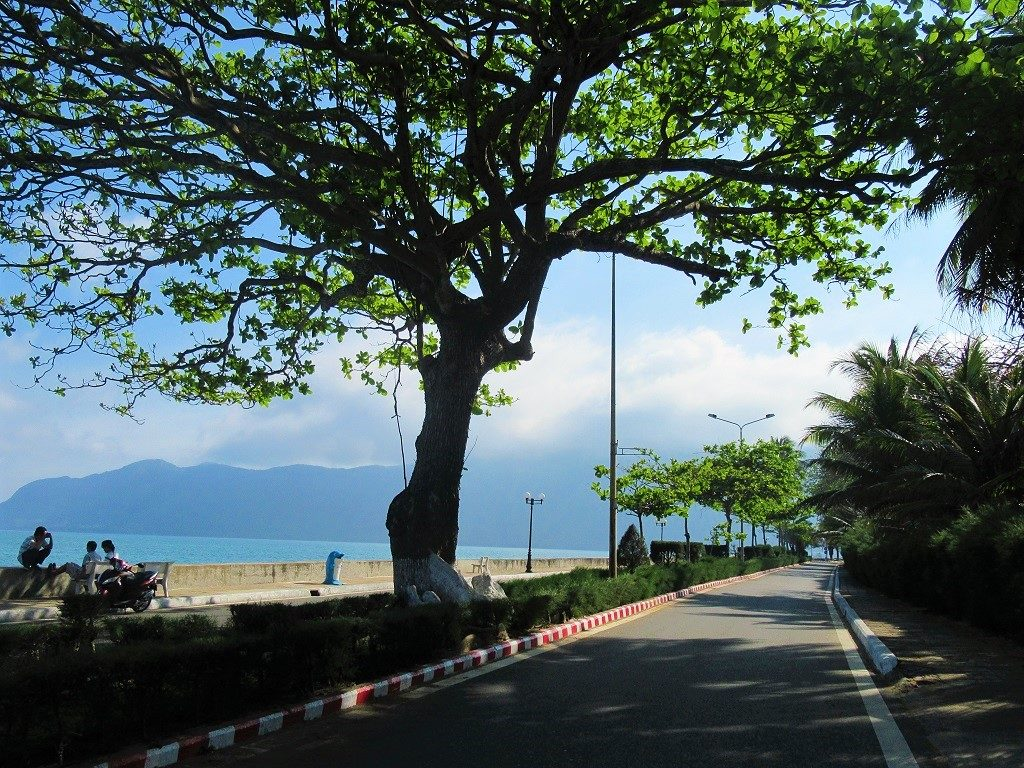 Walking the seafront promenade, Con Son Island, Vietnam