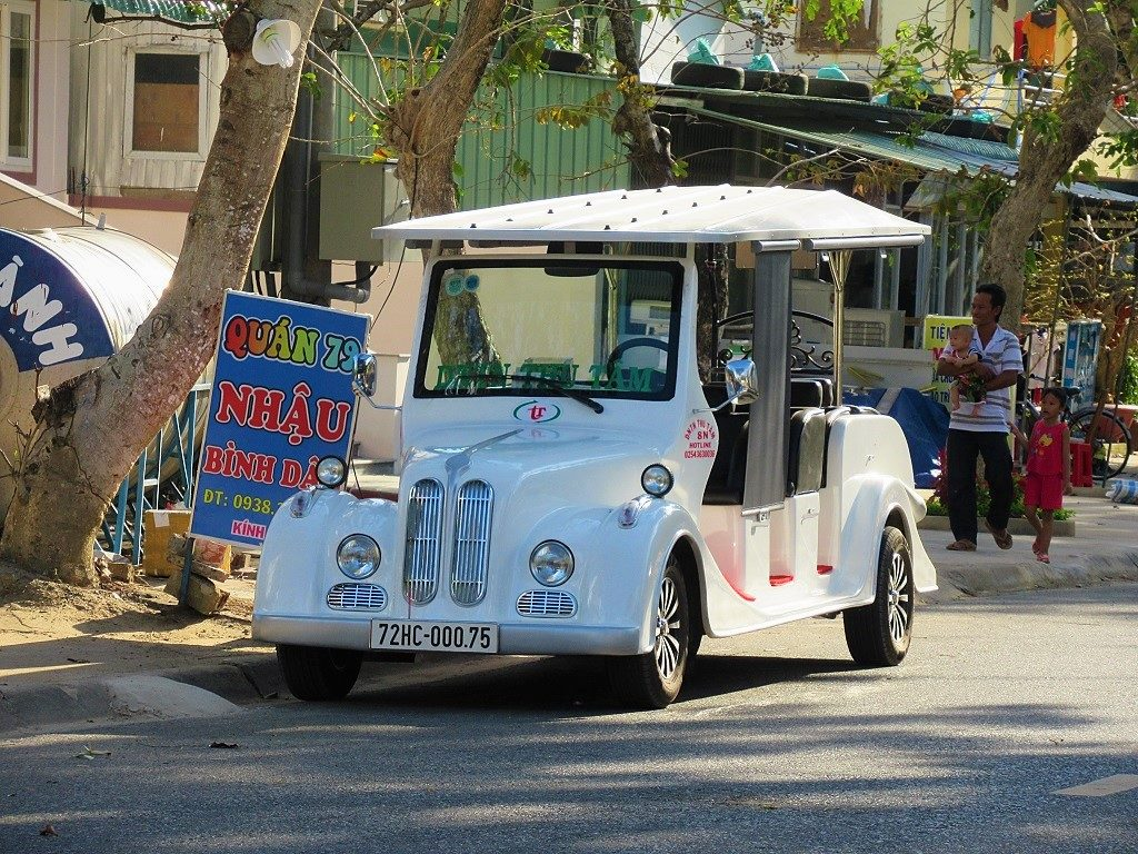 Electric taxi car, Con Son Island, Con Dao, Vietnam