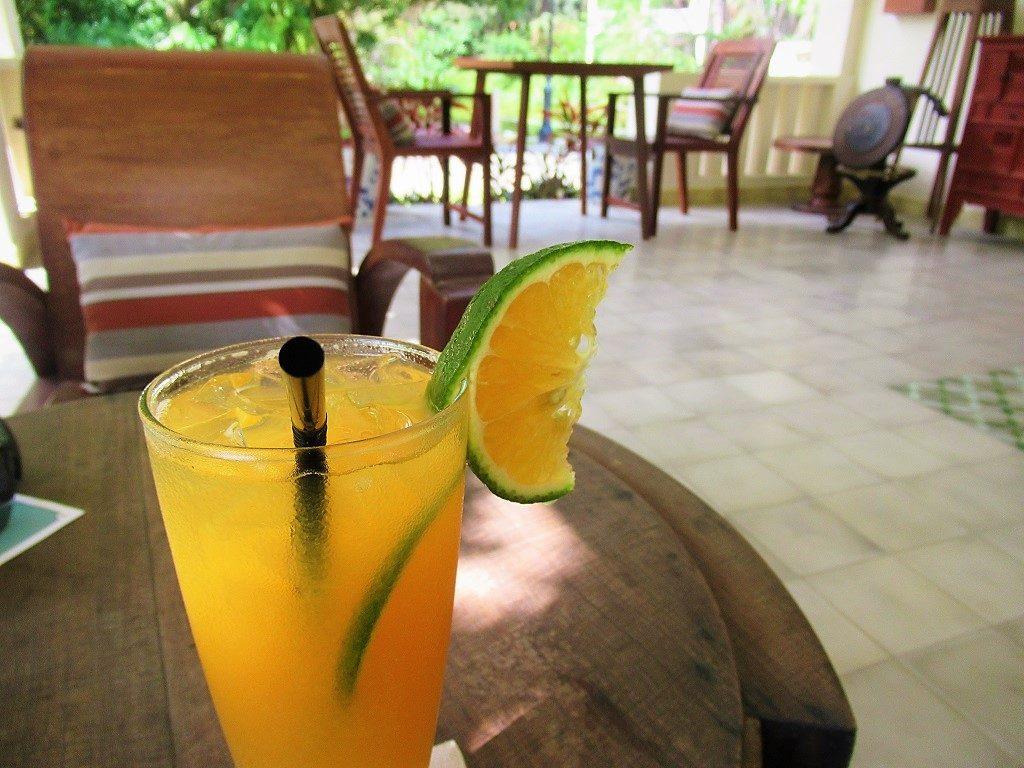 Drinks at the bar at Poulo Condor Boutique Resort, Con Dao, Vietnam