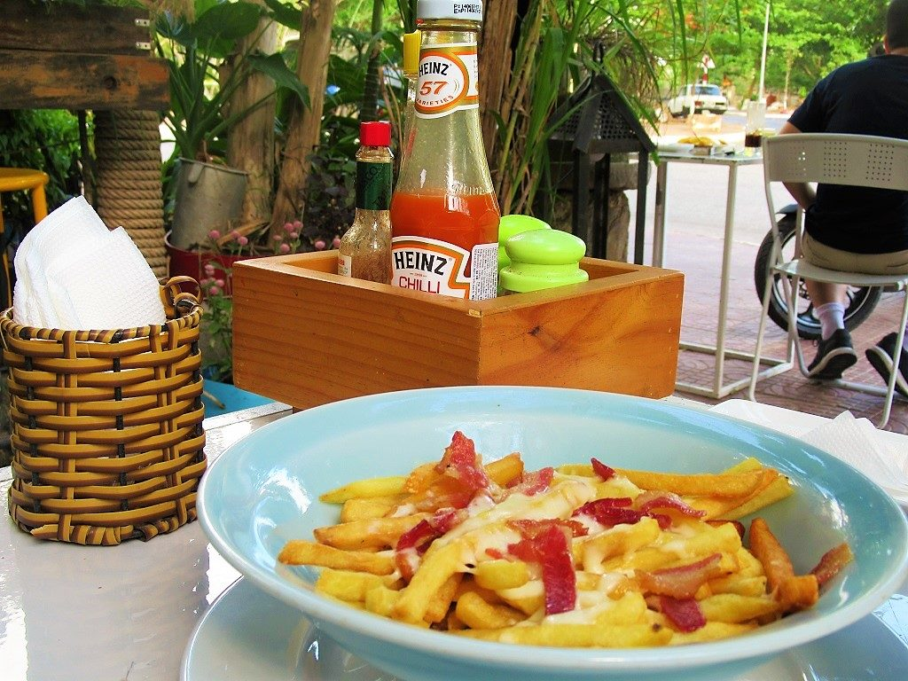 Western food at Infiniti Cafe, Con Son town, Con Dao Islands