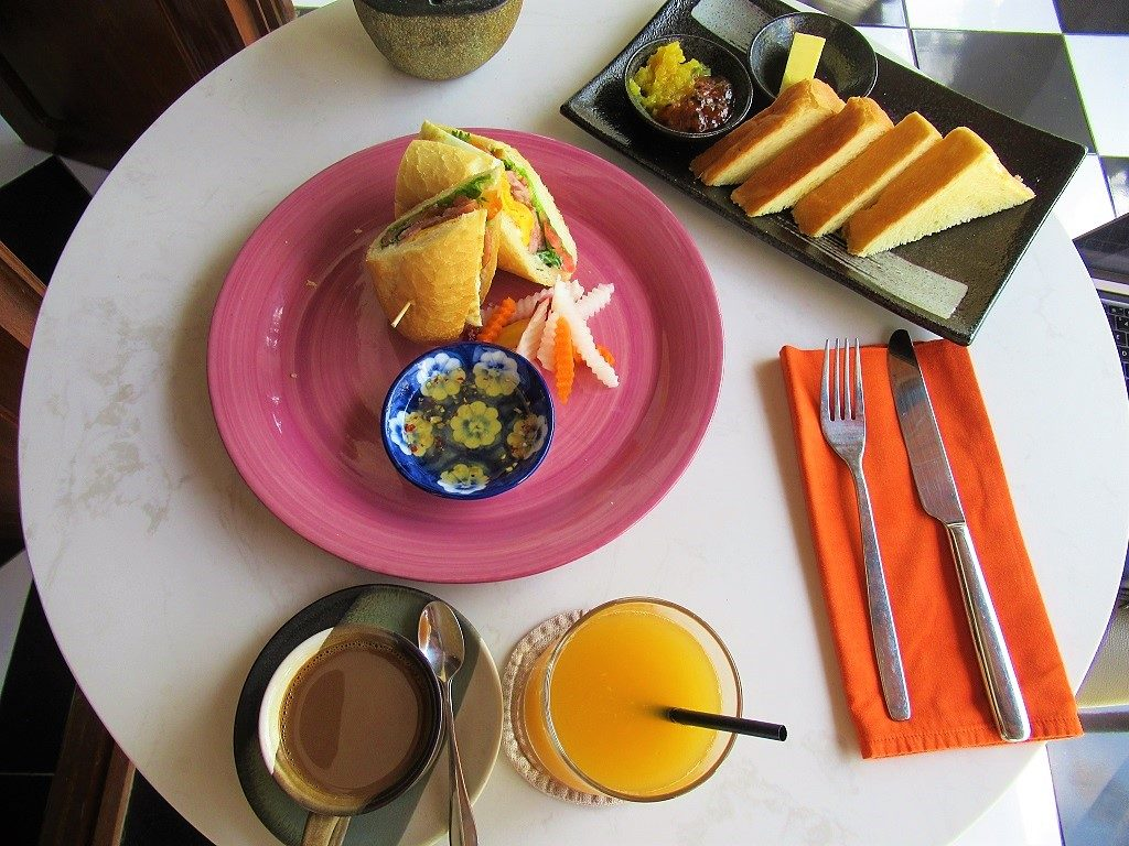 Breakfast at Villa Maison restaurant, Con Son town, Con Dao Islands