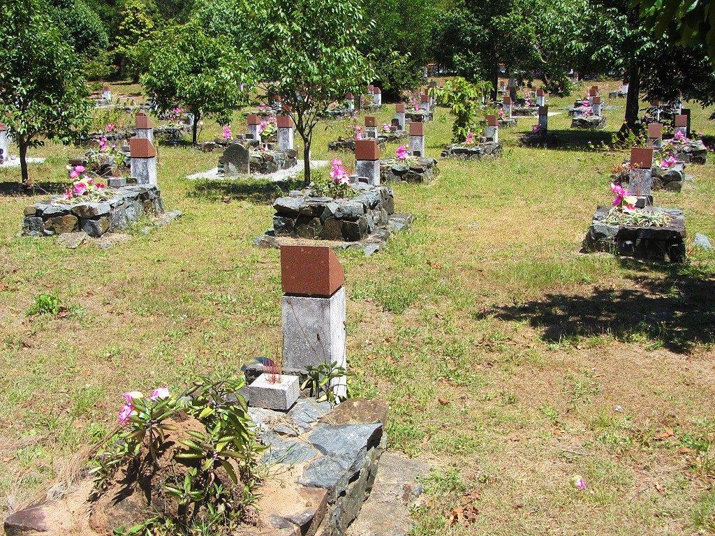 Hang Duong cemetery, Con Son Island, Con Dao, Vietnam