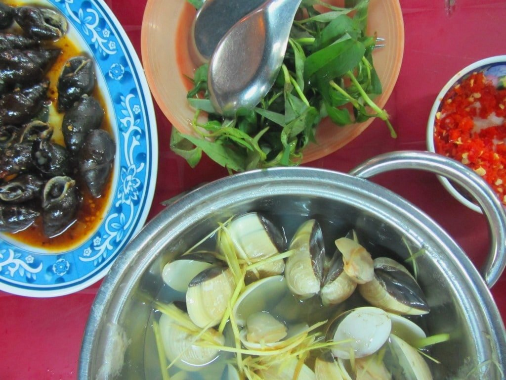 seafood in Saigon, Vietnam