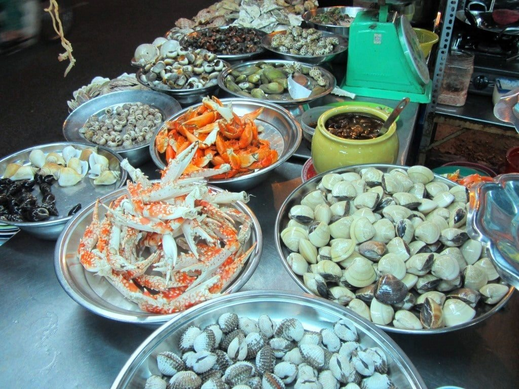 Snails & shellfish in Saigon, Vietnam