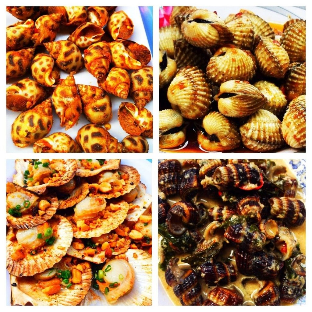 Varieties of snails & shellfish, Vietnam