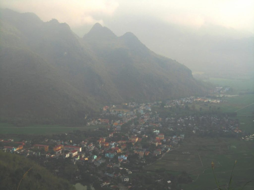 Mai Châu valley in thin mist