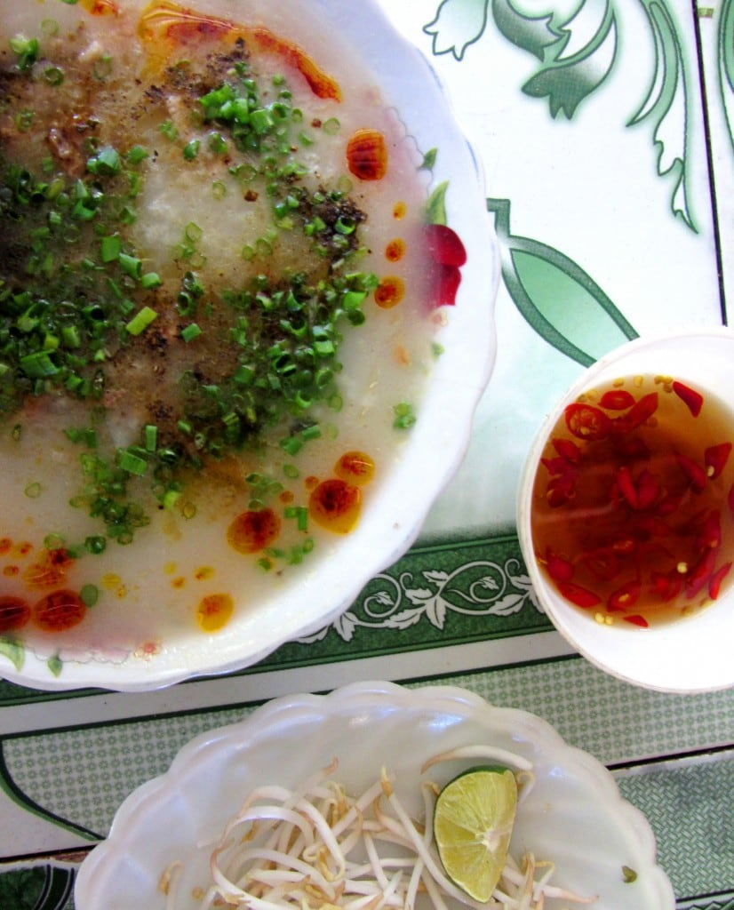 Cháo (rice porridge) is classic, hearty, mountain fare!