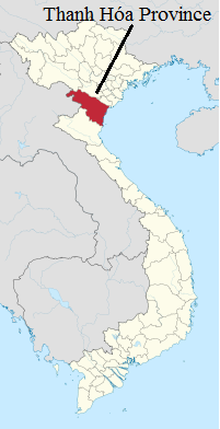 Thanh Hóa Province (red) - the 'throat' of Vietnam