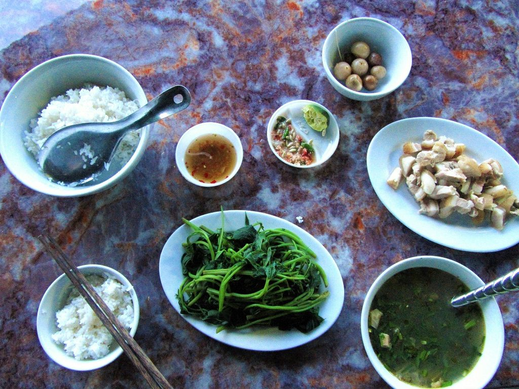 Dinner in Lang Chanh, Thanh Hoa Province, northern Vietnam