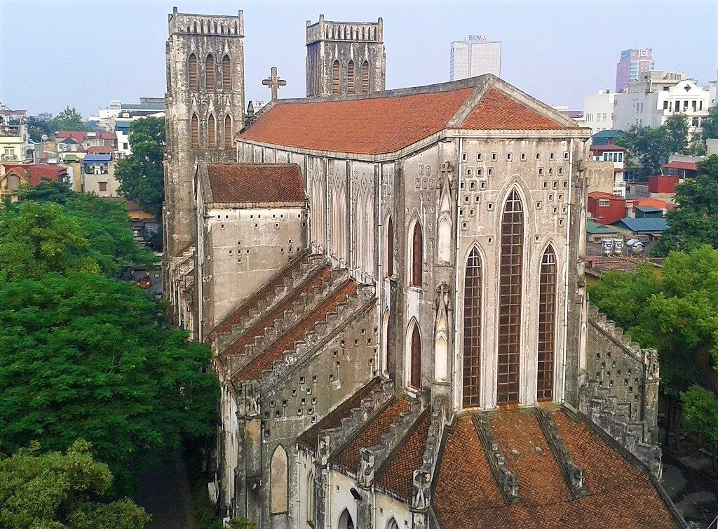 View of St. Joseph's Cathedral, Hanoi, Vietnam