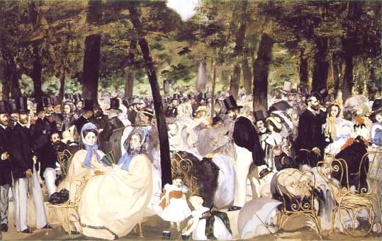 Music in the Tuileries; Edouard Manet, 1862