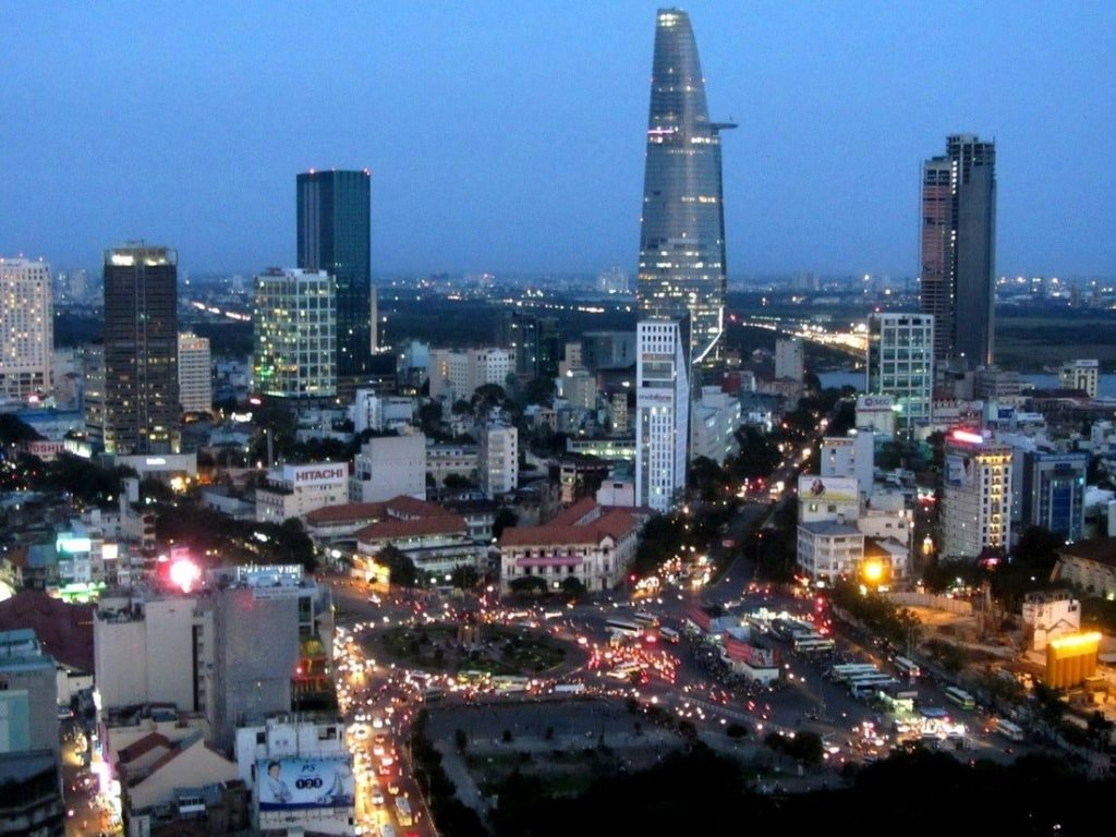 Saigon: growing up! Many of the new high-rises have rooftop bars
