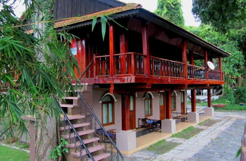 The last remaining wooden house at Vên Vên Hotel