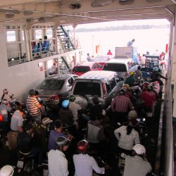 The Cát Lái Ferry can get busy during rush hours