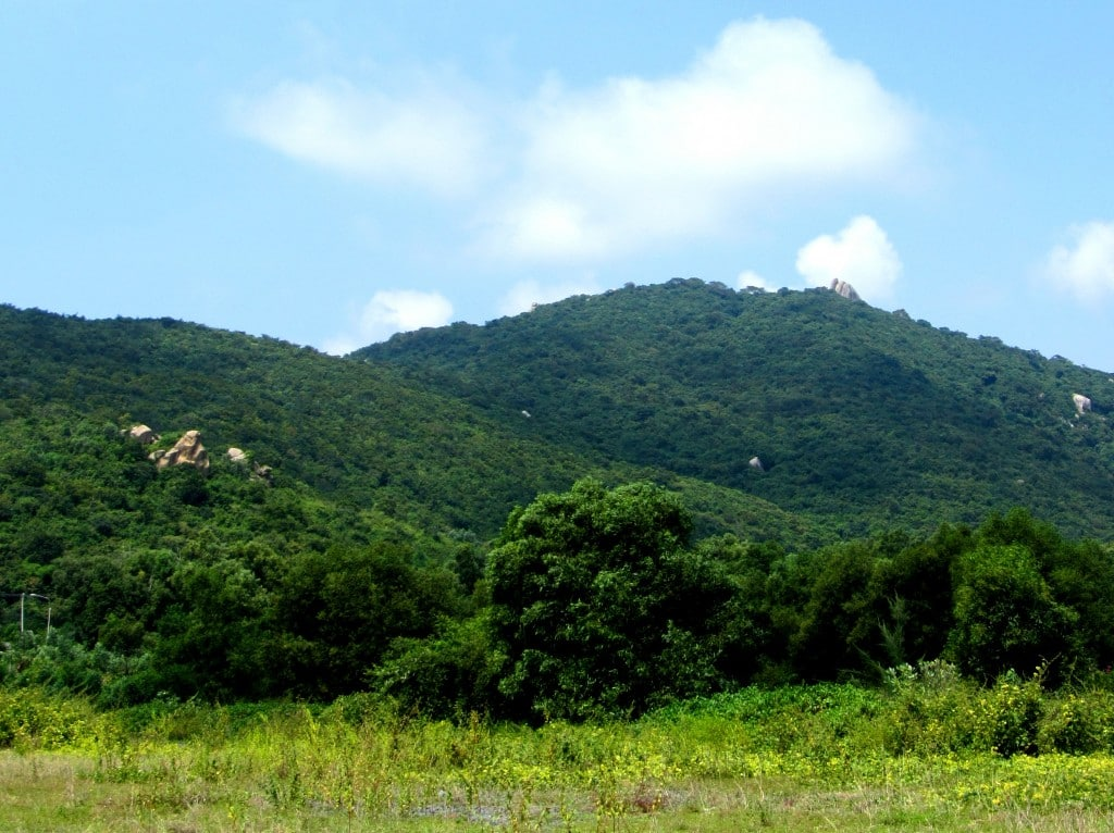 Minh Đạm Resistance Base is at the top this forested mountain