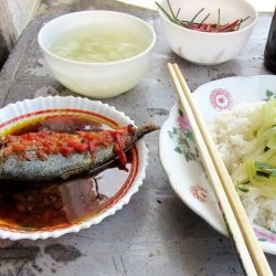 Typical street food lunch in Long Hải for $1!