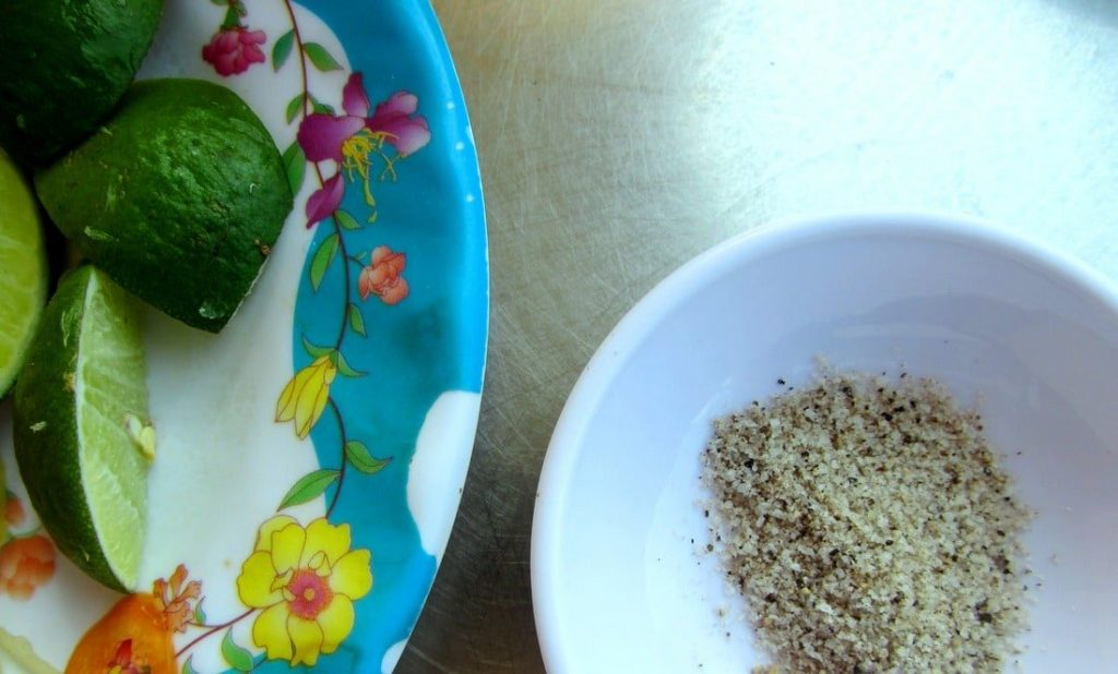 Mix 'n' dip: salt, pepper & lime