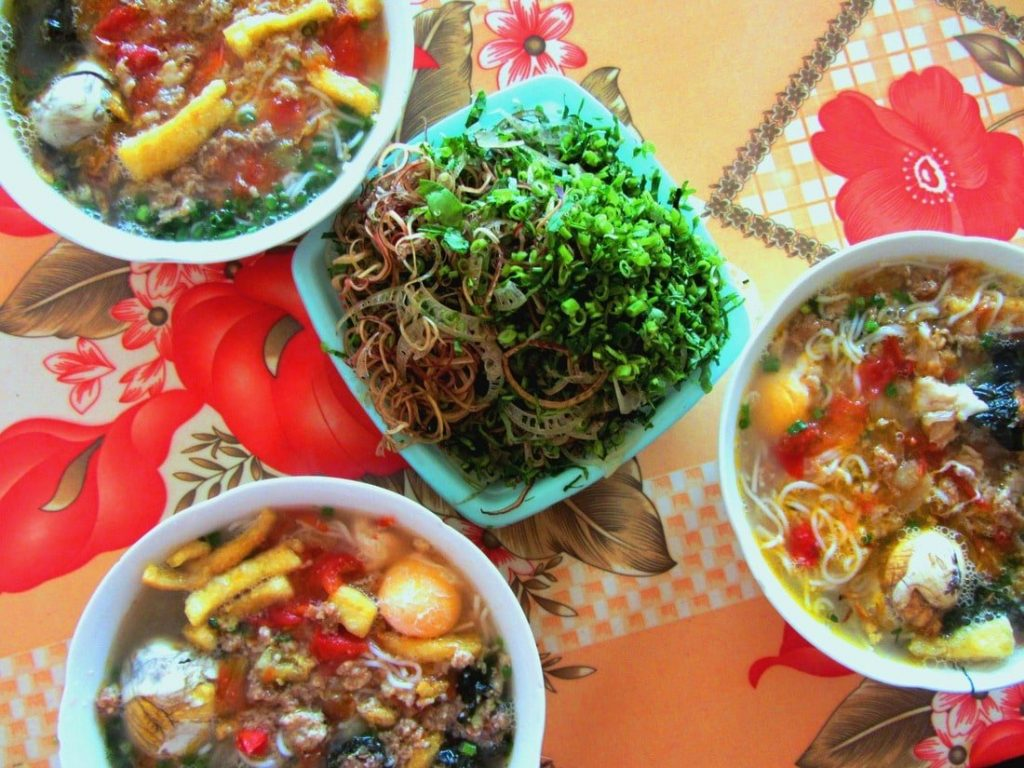Bún Riêu is full of colour & flavour