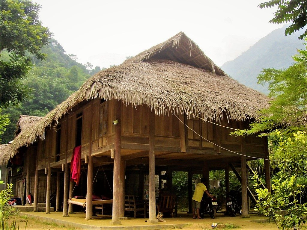 Wood and thatch homestay, Pu Luong Nature Reserve, Vietnam