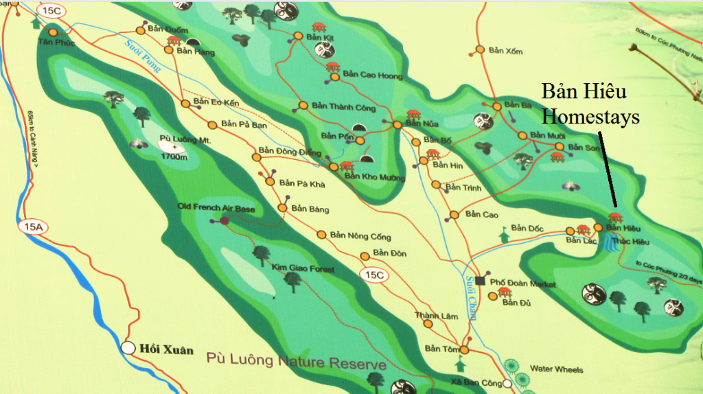 Map of Pù Luông Nature Reserve