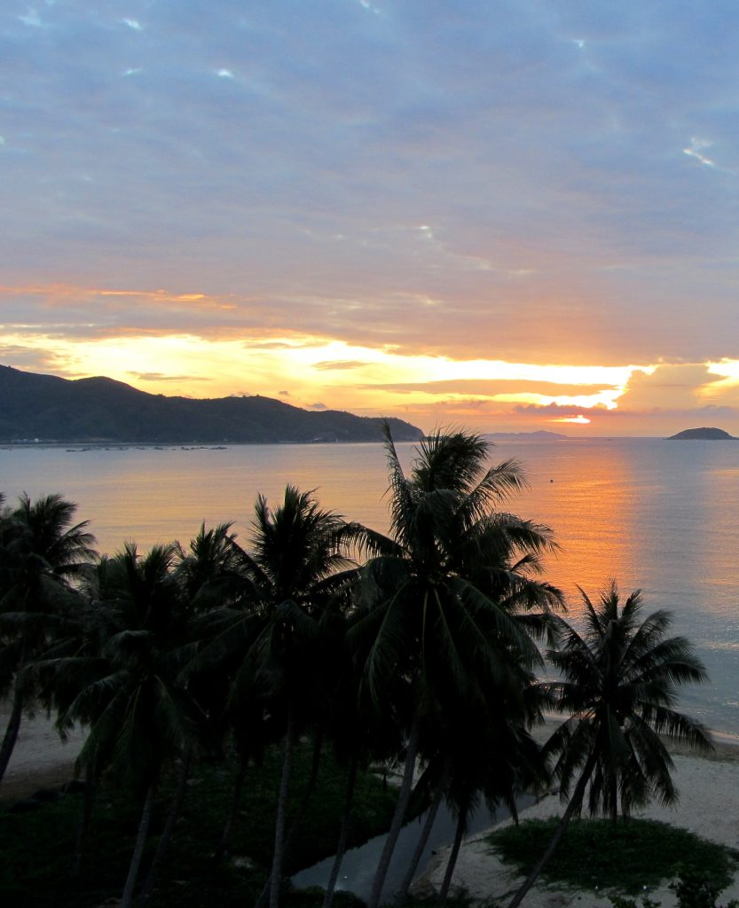 Dawn seen from a cheap Nha Trang guesthouse