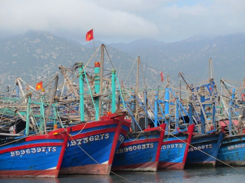 Fishing boats, Nui Chua Coast Road, Ninh Thuan, Vietnam