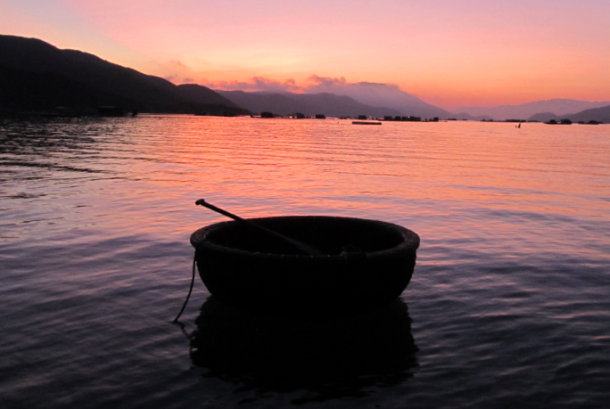 The coracle is an icon of Vietnam: it ferries fishermen from their boats to shore.