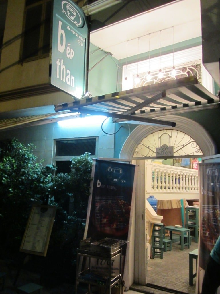 Entrance to Bếp Than Eatery