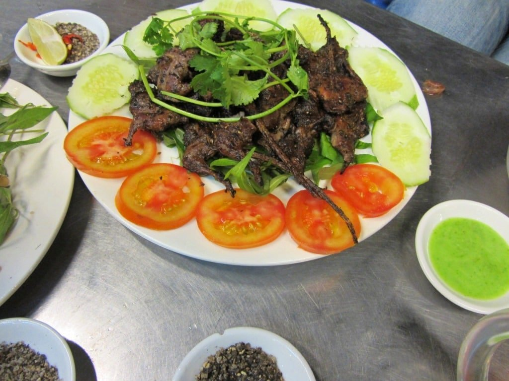 A rat meat feast in Saigon, Vietnam