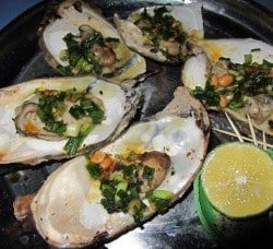 Fresh oysters: $2.50 a kilo at Hồ Tràm