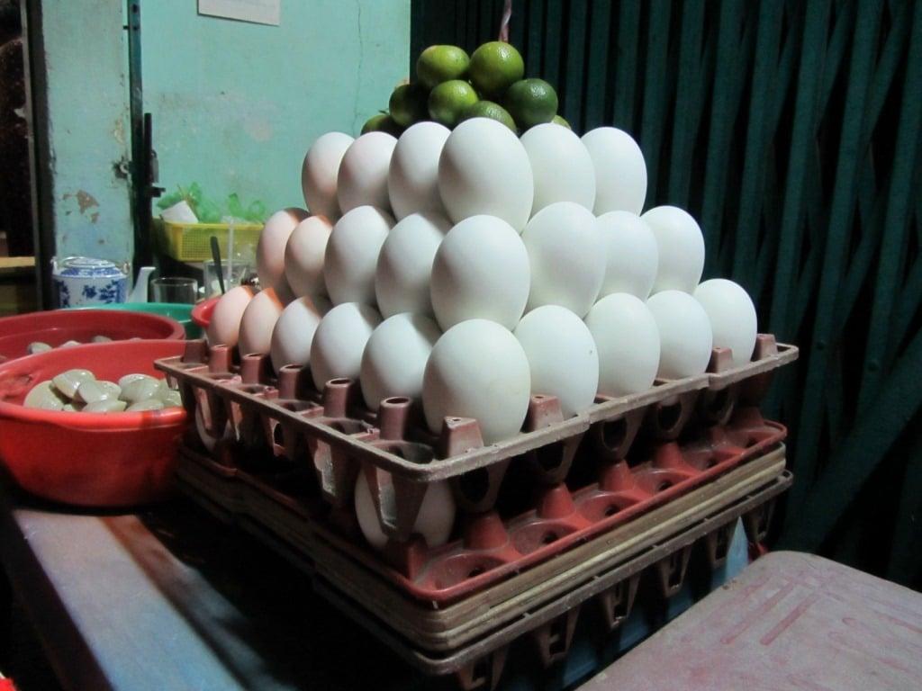 Fetal duck eggs, Saigon, Vietnam