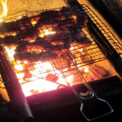 Flame-grilled cat chops