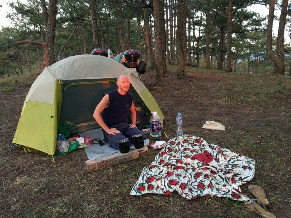 Camping in Dalat, Central Highlands, Vietnam