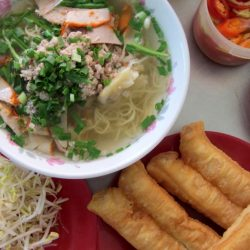 Chinese influence: wonton noodle soup