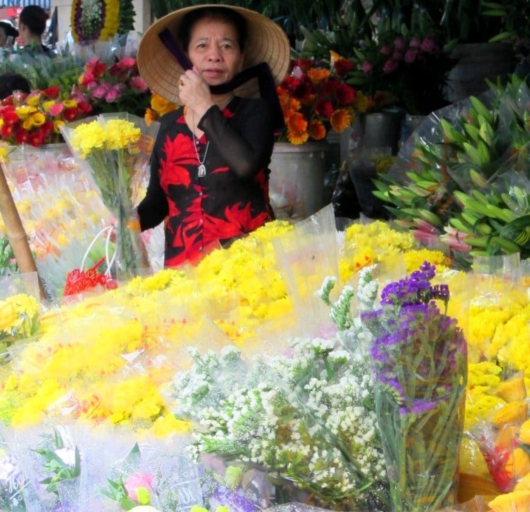 Markets in Vietnam are a woman's world