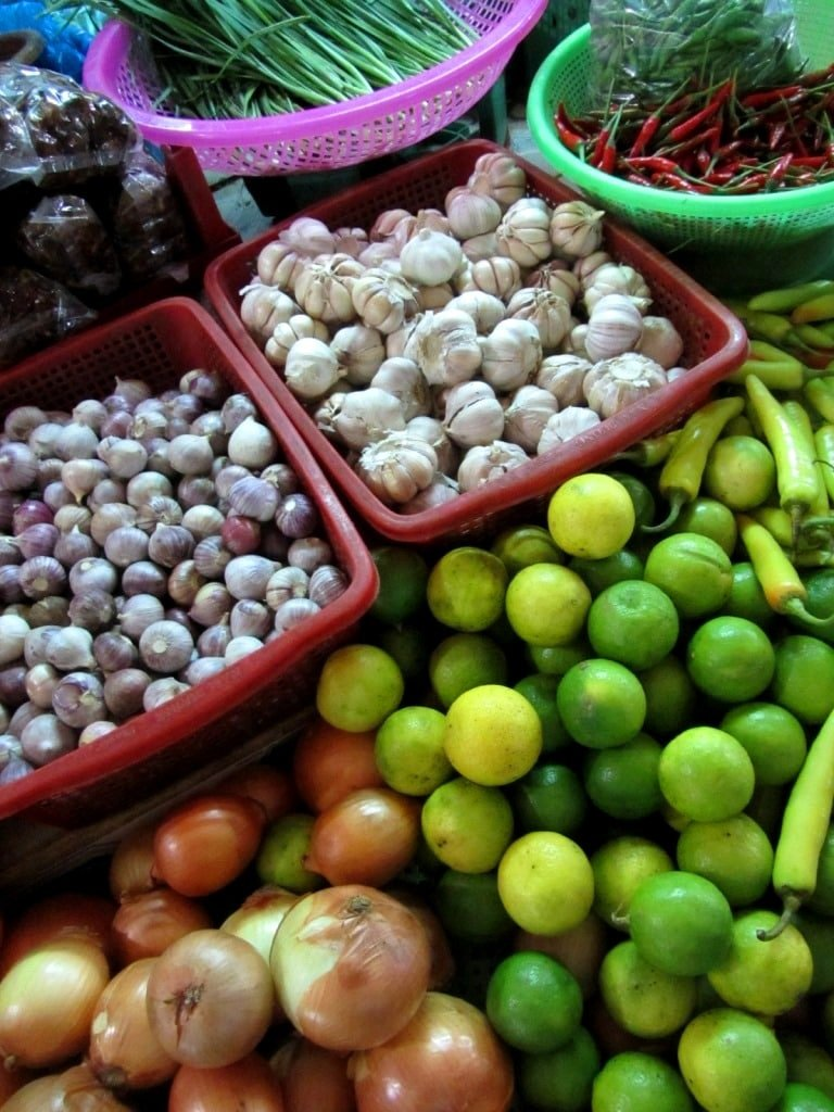 Fresh & colourful produce at Hoa Hung Market