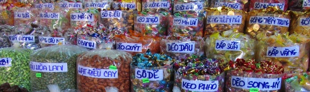 Assorted traditional candies