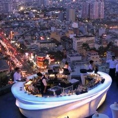 Rooftop bar in Saigon