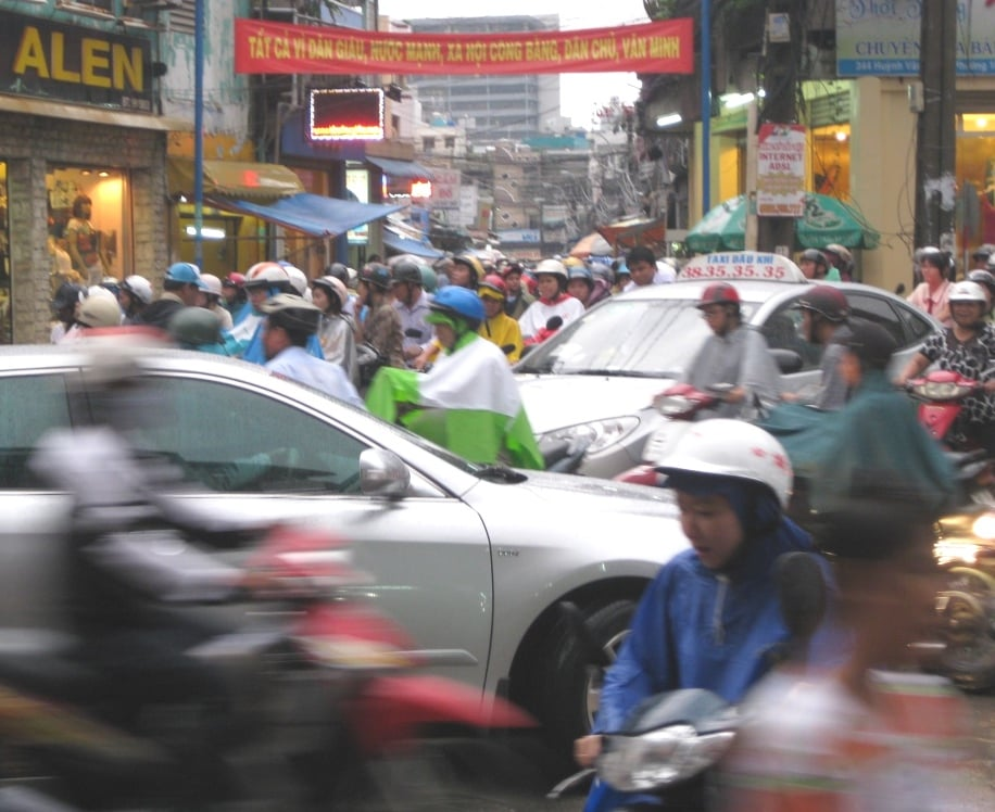 Rush hour in Saigon