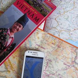 Maps for a motorbike road trip in Vietnam