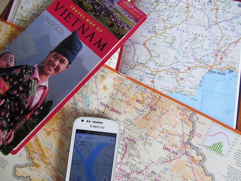 Maps to use for a motorbike road trip in Vietnam