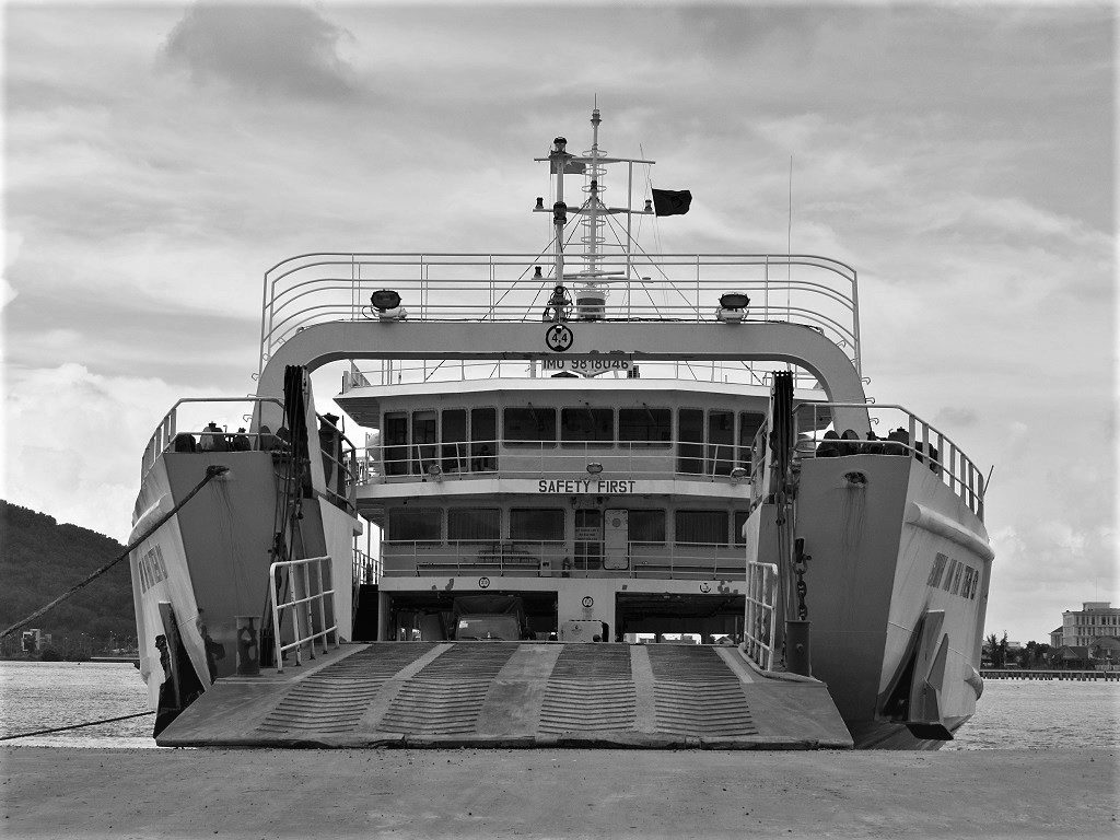 Car ferry from the Mekong Delta to Phu Quoc Island, Vietnam